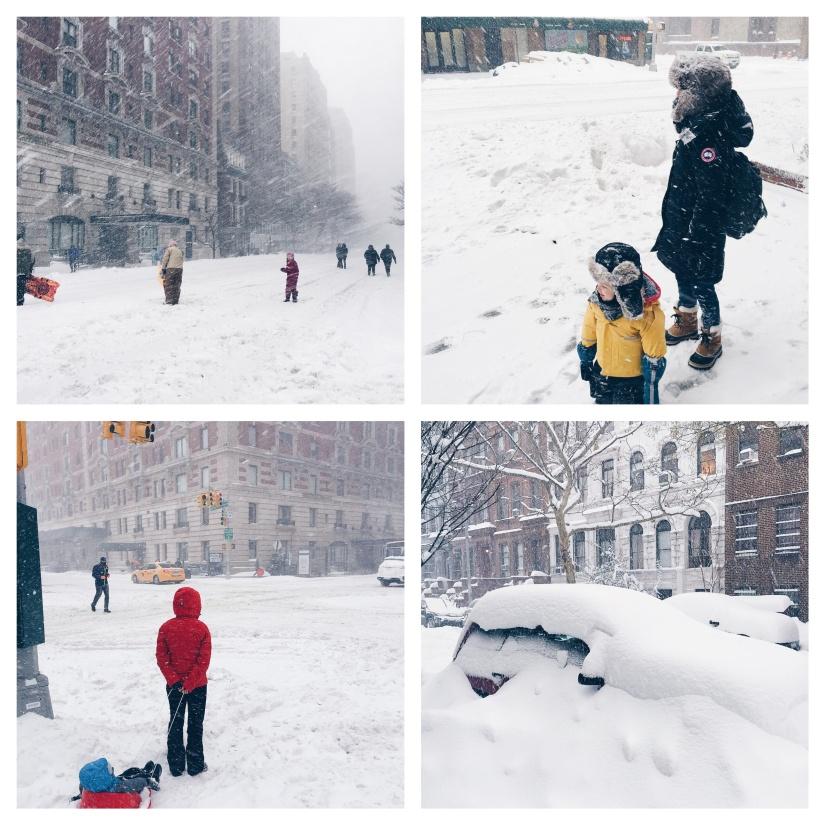Snowmageddon in New York. Eine Weltstadt wird zum Skiort(DE).
